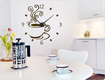 dekodino Wandtattoo-Uhr