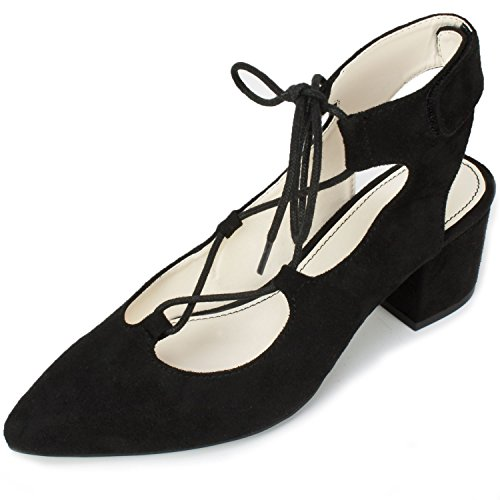 Women's Heel Black 'HANNALEE' Dials Seven Shoes AxRtOq