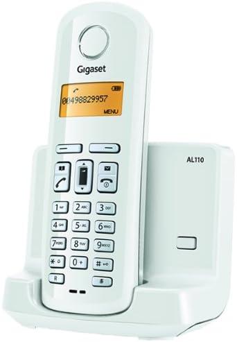 Gigaset AL110 - Teléfono Fijo Inalámbrico, color blanco: Amazon.es: Electrónica