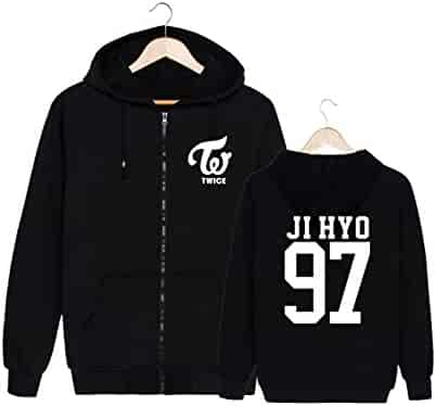 42aa4a9a0a6e1 ALLDECOR Twice Thick Hooded Pullover Sweater Kpop Cotton Long Sleeve Hoodie  Coat