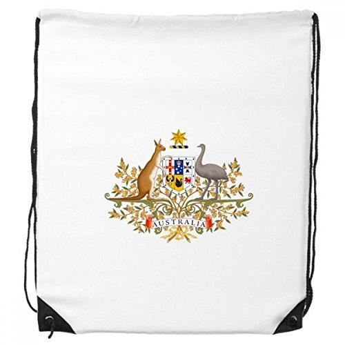 Canberra Australia National Emblem Drawstring Backpack Shopping Handbag Sports Bags Gift