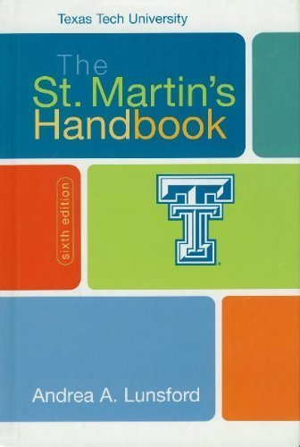 The St. Martin's Handbook Texas Tech University
