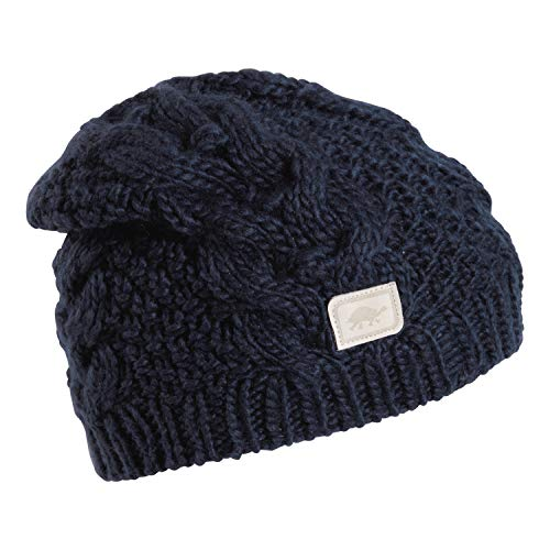 Turtle Fur Sugar Sugar Women's Cable Knit Relaxed Fit Beanie Navy -