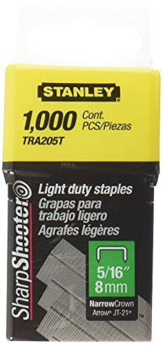 Stanley TRA205T 1,000 Units 5/16-Inch Light Duty Staples (4 pack)