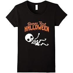Womens Baby Bump Pregnant Halloween T-Shirt