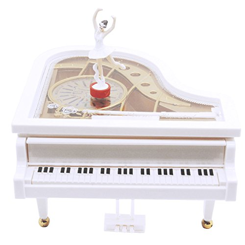 Dancing Ballerina Music - AVESON Music Box, Classical Grand Piano Shape Mechanical Ballerina Girl Dancing Kids Birthday Christmas Gift Toy, Melody Castle in the Sky
