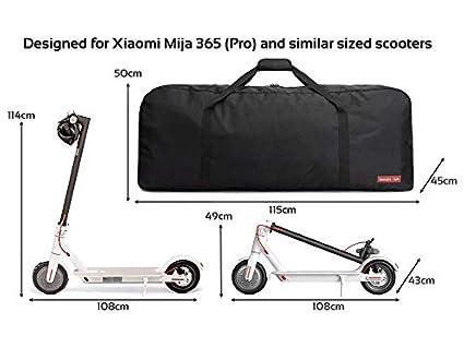 lamaki:Lab Bolsa de Transporte e-Scooter, Elegante y Confortable para Xiaomi Mijia M365 Funda de Scooter Patinete eléctrico Manillar Extra Robusto ...