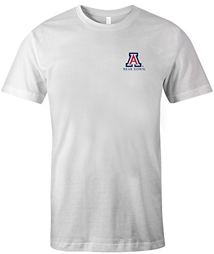 - NCAA Arizona Wildcats Adult Painted Flag Jersey Short sleeve T-Shirt, Medium,White