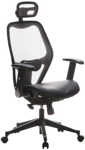 HJH Office - 653050 silla de oficina AIR-PORT asiento piel ...