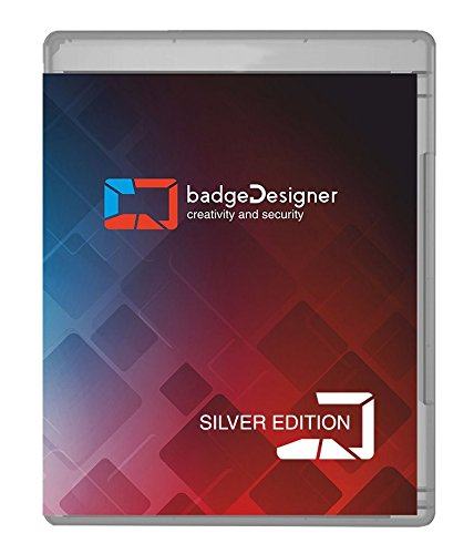 Barcode Design Software (badgeDesigner ID Card Software Program for Mac & PC - Design & Print Photo ID Cards and Gift/Loyalty Cards - Silver Edition)