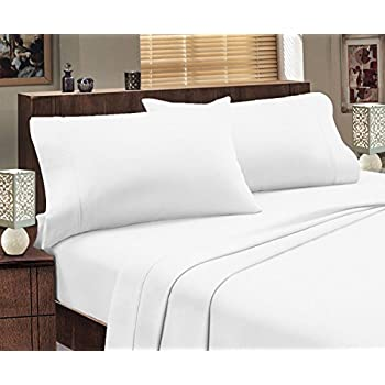 Mayfair Linen Hotel Collection 100% Egyptian Cotton- Genuine 800 Thread Count Sheet Set Queen White