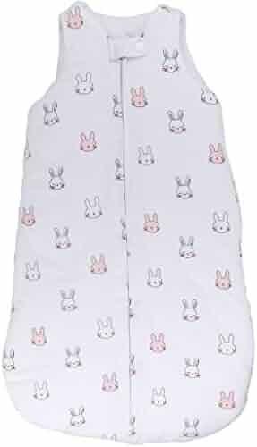 02b4ce4f0f Baby Wearable Blanket- Sleep Bag Winter Weight Pink Bunnies for Baby Girl  (3-