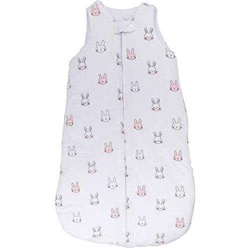 Baby Wearable Blanket- Sleep Bag Winter Weight Pink Bunnies for Baby Girl (3-6 Months) by Ely's & Co