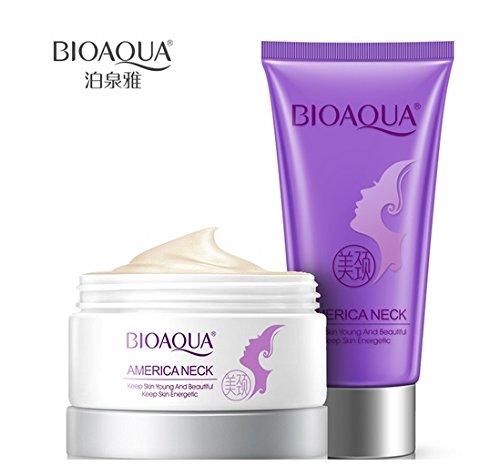 Anti Wrinkle Neck Cream +Neck Mask Anti Aging Firming Neck Whitening Neck Cream Skin Care Firming Powerful Moisturizing 2PCS 80g