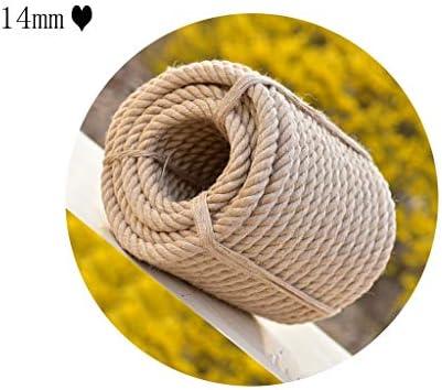 ZHWNGXO 14mm natürliches Sisal Seil, for Kratzbaum Ersatzhanfseil for Jute Seil 10m Reparatur / 20m / 30m / 40m / 50m (Size : 40m)