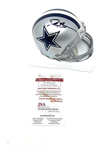 Deion Sanders Dallas Cowboys Signed Autograph Mini Helmet JSA Witnessed Certified