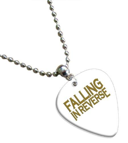 Falling in Reverse Hot Foil on White Pick Collier Médiator