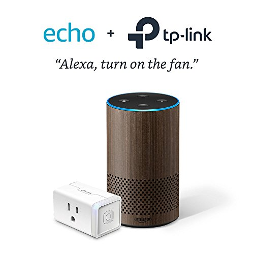 Echo (2nd Generation) – Limited Edition Walnut with TP-Link Smart Plug Mini