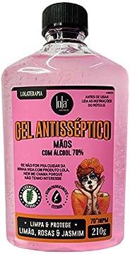 Gel Antisséptico 70% Limão & Rosas, 210g, Lola Cosme