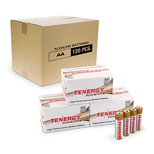 Tenergy 1.5V AA Alkaline Battery, High Performance AA Non-Rechargeable Batteries for Clocks, Remotes, Toys & Electronic Devices, AA Cell Batteries, 120-Pack