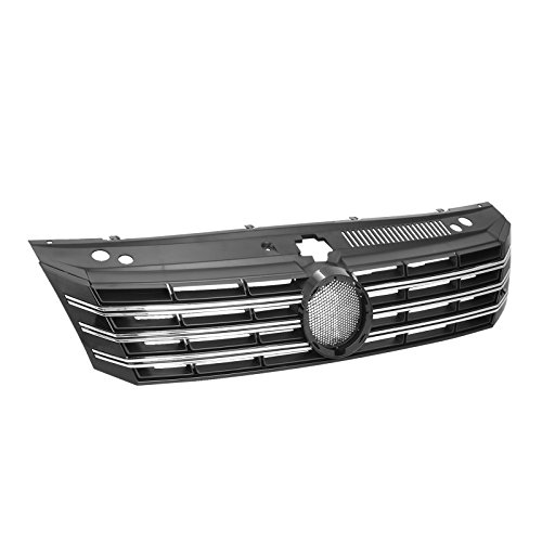 Mophorn Front Grille Fit for 2012-2015 VW Volkswagen Passat OE Style Black Plastic VW1200153 Replacement Grille Assembly Front Grill (for 2012-2015 VW Passat)
