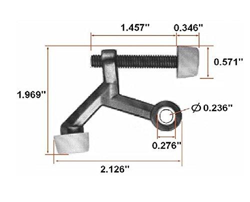 10-Pack Design House 181768 Standard Hinge Pin Door Stop Polished Brass