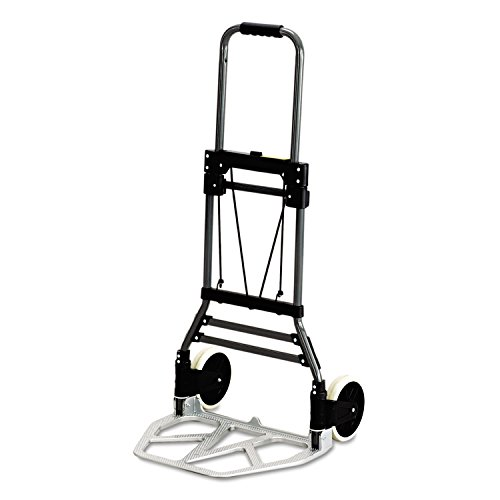 Safco® Stow-Away Medium Hand Truck Cart, 275lb Capacity, 19-1/2w x 18d x 39h, Aluminum from Safco