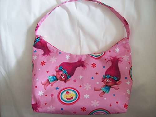 (Troll Girl's purse,in Poppy cupcake print,With Zipper,Handmade)