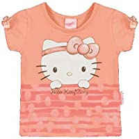 Blusa Manga Curta em Cotton Light - Salmão - Hello Kitty