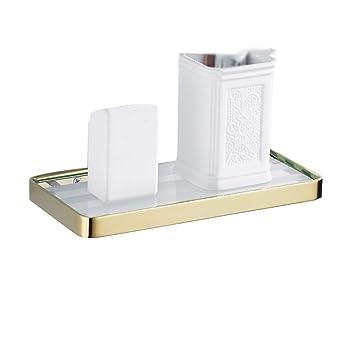 XSJJ Badezimmer-Glasablage, schlagfreies Kupfer-Badezimmer mit ...