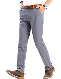 Men's Casual Stretch Pant Comfort Tapered Trousers 20-Color MH102