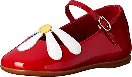 Dolce & Gabbana Kids Baby Girl's Patent Flower Ballerina (Toddler) Yellow/White/Red 22 (US 6 Toddler) M by Dolce & Gabbana
