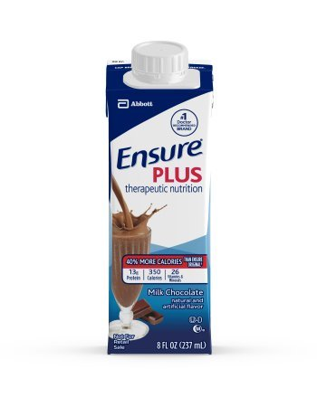 Ensure Plus Milk Chocolate, 8 Ounce Recloseable Carton, Abbott 64911 – Case of 24
