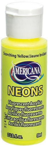 DecoArt Americana Neon's Paint, 2-Ounce, Scorching - Hobby Craft Co Uk