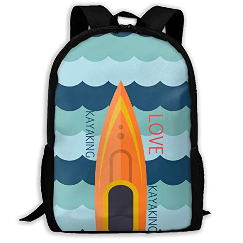Love Kayaking Canoeing Funny Boating Sport Style Adult Unisex Backpack Kent Canoes,open Kayak