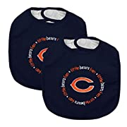 Baby Fanatic Team Color Bibs, Chicago Bears, 2-Count