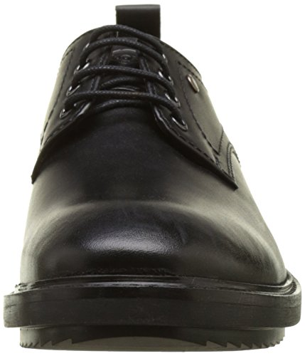 Derby Elba Scarpe London Black Base Noir Stringate Waxy Uomo Hw1IZqcq5