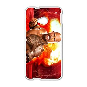 HTC One M7 Cell Phone Case White WWE Bzzl
