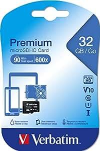 Verbatim 32GB Micro SDHC - Tarjeta Micro SD de 32 GB (Clase: 10), Negro