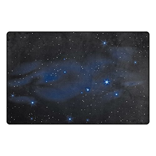 ColourLife Lightweight Non Slip Carpet Mats Area Soft Rugs Floor Mat Rug Decoration for Kids Room Living Room 60 x 39 inches Dark Star Sky by ColourLife
