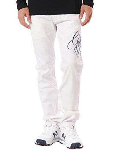 (ガッチャ ゴルフ) GOTCHA GOLF ロングパンツ スーパーストレッチ カラー パンツ [防汚 ? 撥水加工] 182GG1801 ホワイト Lサイズ
