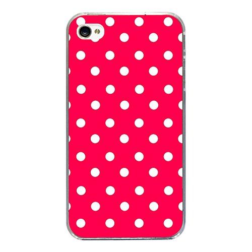 "Disagu Design Case Coque pour Apple iPhone 4s Housse etui coque pochette ""Rot Weiß gepunktet"""