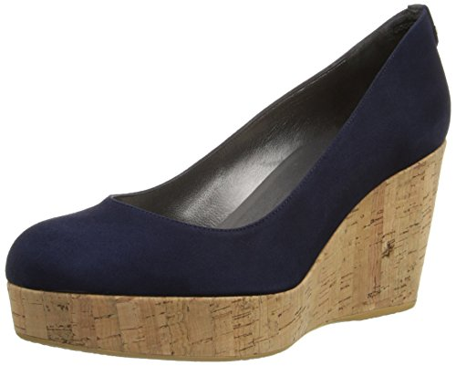 Women's Stuart Weitzman 'York' Wedge Pump, Size 11 M - Blue