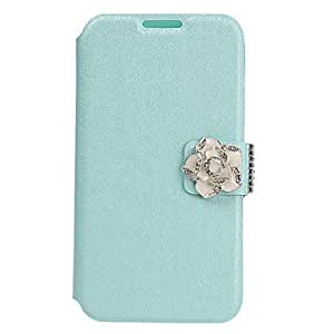 TOPQQ Jasmine Flower Design Full Body PU Leather Case for Samsung Galaxy S4 I9500 (Assorted Colors) , White