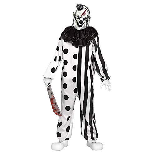 Fun World Unisex-Adult's Killer Clown Teen Cstm, Multi -