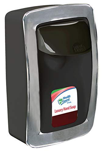 Designer Series SS001BK34 Manual Wall Mount Dispenser, Plastic, 1250 mL, Black with Chrome Trim (Each)