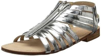 Madison Harding Women's Pygar Gladiator Sandal,Silver,37 EU/7 M US