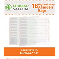 18 Replacements for Nutone 391 Bags Fit Central Vacuums, Compatible With Part # 391, by Think Crucial