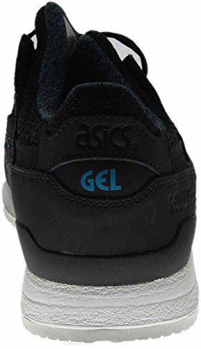 Outlet en línea Clásico en línea Asics Gel Lyte Iii-hombres Punta Redonda De Gamuza Zapatillas De Deporte Negro Negro / Negro NtyDnI