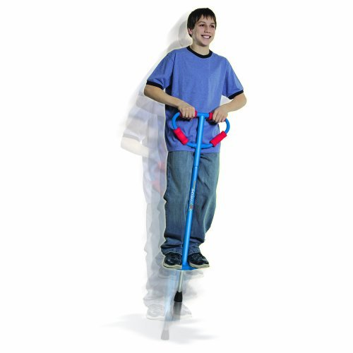 Price comparison product image Large Jumparoo Boing! Pogo Stick by Air Kicks,  for Riders 90-160 Lbs,  BLUE